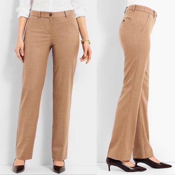 Wool trouser camel color size 6